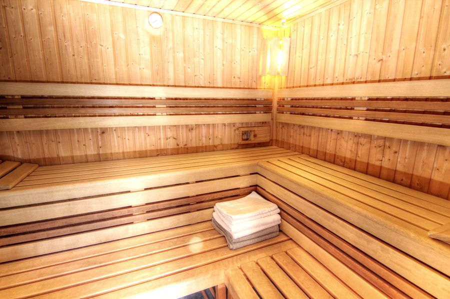 Wellness a sauna